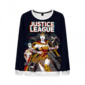 Merchandise Mens Justice League Sweatshirt Cover Fan Art