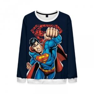 Collectibles Mens Superman Sweatshirt Justice League Dark Blue