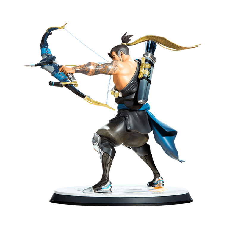 Merch Hanzo Statue Overwatch Scale Figure Genuine 33Cm