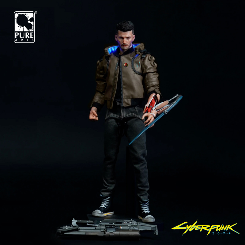 Collectibles Cyberpunk 2077 Figure Male Hero Statue Genuine