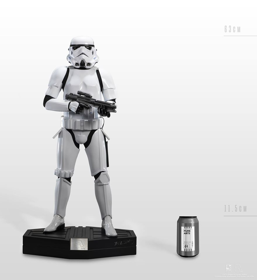 Merch Stormtrooper Statue Star Wars Genuine 63Cm Scale 1/3