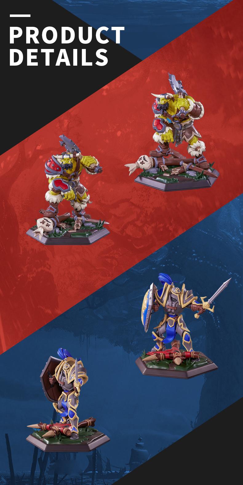 Merch Human Statue Alliance Genuine Figure Warcraft Reforged
