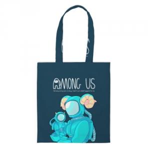 Merchandise Cyan Shopper Among Us Spaceman Art