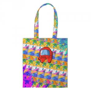 Merchandise Shopper Among Us Pattern Colored