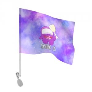 Merchandise - Car Flag Among Us Imposter Purple