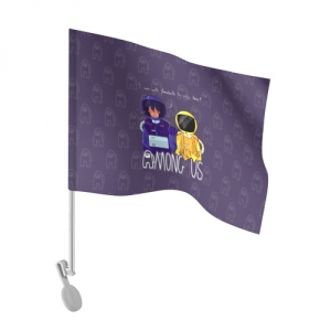 Merchandise - Car Flag Mates Among Us Purple