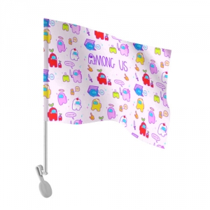- People 101 Flag Auto Front White 500 152