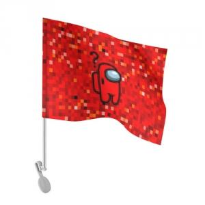 Merchandise Red Pixel Car Flag Among Us 8Bit
