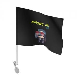 Merchandise Car Flag Among Us X Cyberpunk 2077