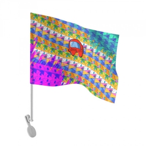 - People 101 Flag Auto Front White 500 162