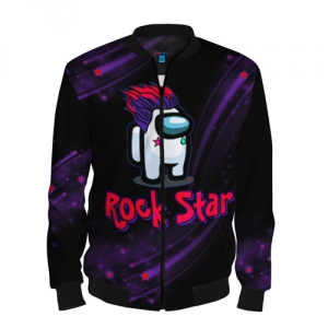 Merchandise Among Us Rock Star Men'S Baseball Jacket