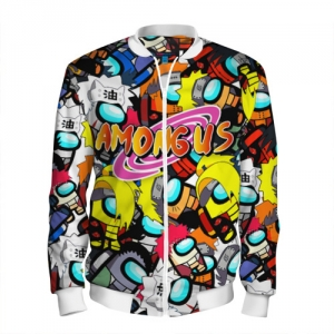 Merchandise Men'S Baseball Jacket Naruto X Among Us Crossover
