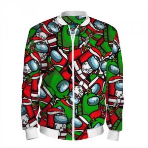 Merchandise Men'S Baseball Jacket Santa Imposter Among Us