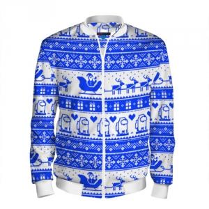 Merchandise Men'S Baseball Jacket Among Us Christmas Pattern