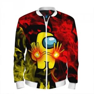 Merchandise Fire Mage Men'S Baseball Jacket Among Us Flames