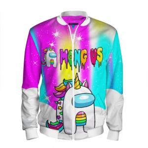 Merch Rainbow Men'S Baseball Jacket Unicorn Among Us