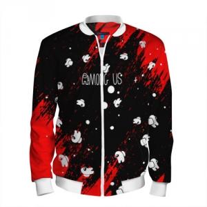 Merchandise Men'S Bomber Among Us Blood Black