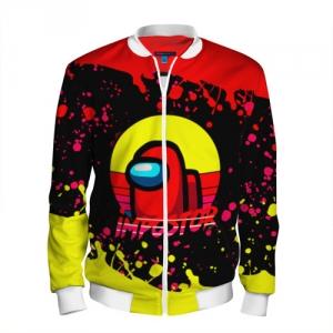 Merchandise Men'S Bomber Among Us Impostor Red Yellow