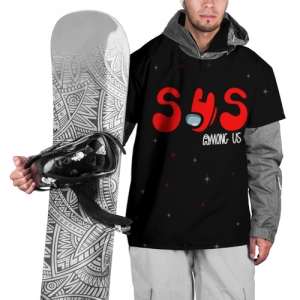 Merch Ski Cape Among Us Sus Red Imposter Black