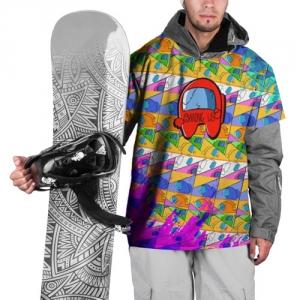Merch Ski Cape Among Us Pattern Colored