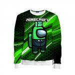 Merchandise - Kids Sweatshirt Among Us Х Minecraft