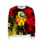 Merch - Fire Mage Kids Sweatshirt Among Us Flames