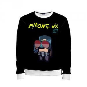 Merch Kids Sweatshirt Among Us X Cyberpunk 2077