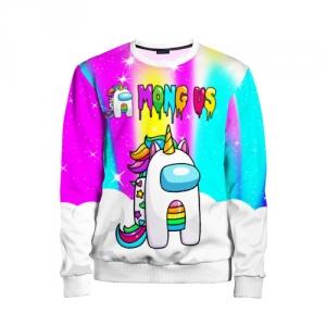 Merch Rainbow Kids Sweatshirt Unicorn Among Us