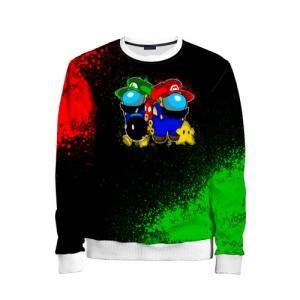 Merch Kids Sweatshirt Among Us Mario Luigi