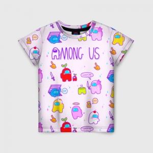 Merchandise - Pattern Kids T-Shirt Among Us Crewmates