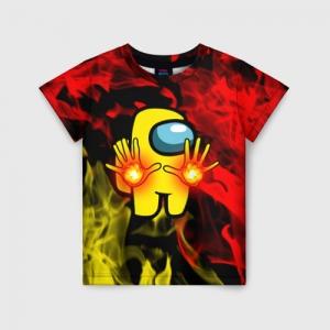 Merchandise Fire Mage Kids T-Shirt Among Us Flames