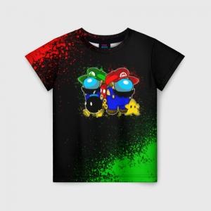 Merchandise Kids T-Shirt Among Us Mario Luigi