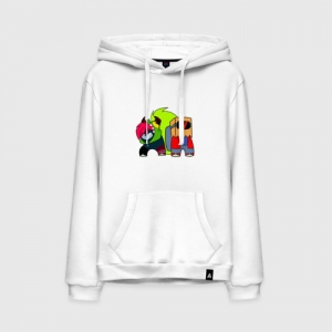 - People 11 Hoodie Front White 500 80