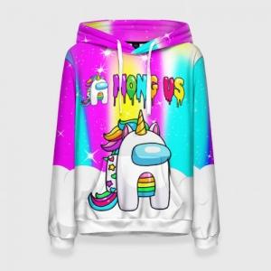 Merch Rainbow Women'S Hoodie Unicorn Among Us