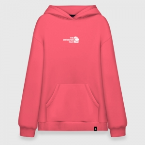 - People 16 Hoodie Superoversize Front Coral 500 7