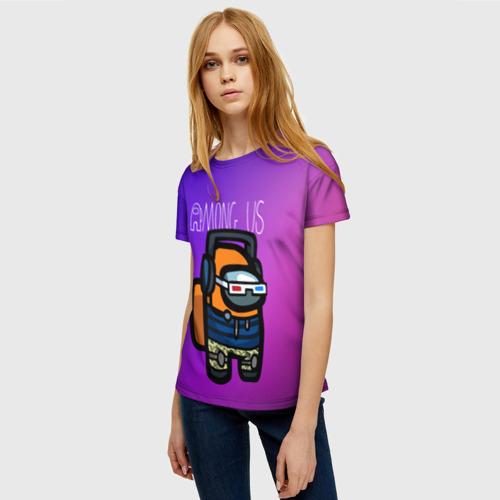Merch Gradient Women'S T-Shirt Among Us Purple