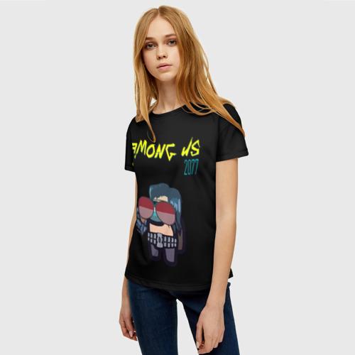 Merch Women'S T-Shirt Among Us X Cyberpunk 2077