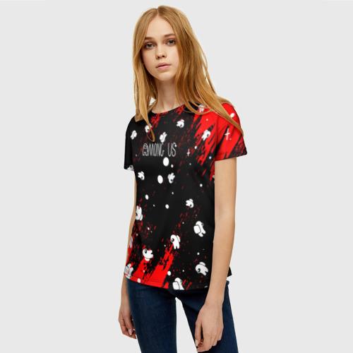Merchandise Women'S Shirt Among Us Blood Black
