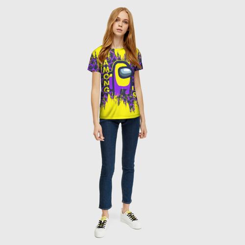 Merchandise Purple Women'S T-Shirt Among Us Yellow