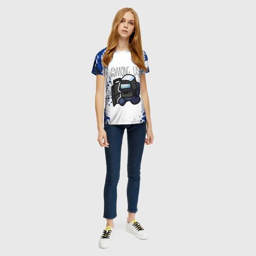 Merch Women'S T-Shirt Among Us Swat White Blue