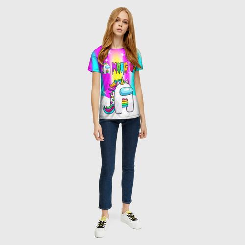 Merch Rainbow Women'S T-Shirt Unicorn Among Us