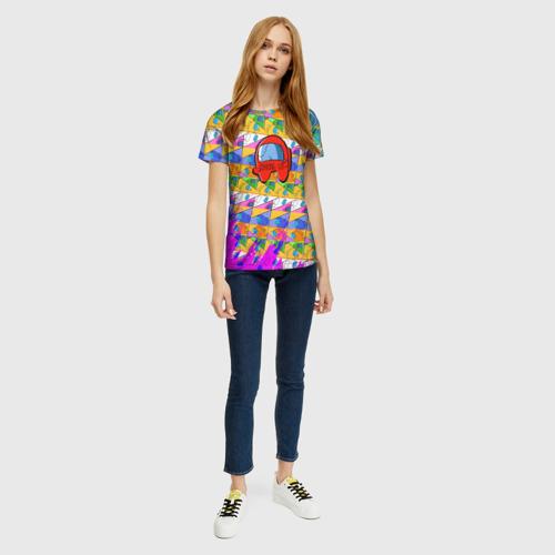 Merch Women'S Shirt Among Us Pattern Colored