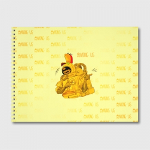 Collectibles Sketch Album Among Us Yellow Imposter Pointing