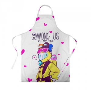 Merchandise Mom Now Apron Among Us White Heart Emoji