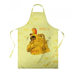 Merchandise Apron Among Us Yellow Imposter Pointing