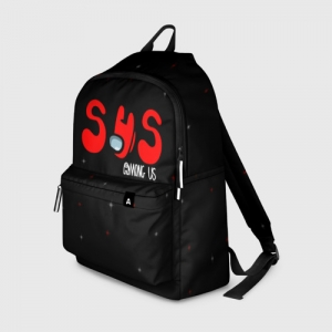 Merch Backpack Among Us Sus Red Imposter Black