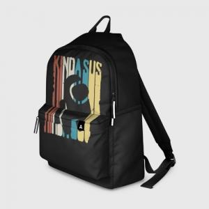 Merch Backpack Kinda Sus Among Us Black