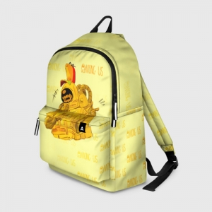 Merch Backpack Among Us Yellow Imposter Pointing