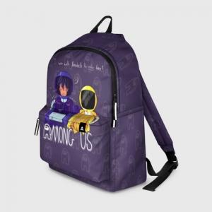 Merch Backpack Mates Among Us Purple