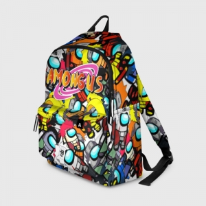 Merch Backpack Naruto X Among Us Crossover